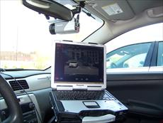 Panasonic CF-30 Toughbook in police cruiser.