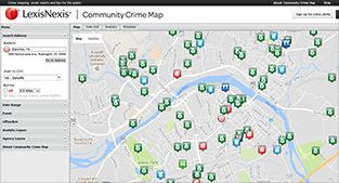 Crime map screenshot