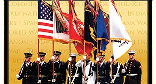 Veterans Day photo of military color guard