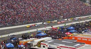 Martinsville Speedway on race day