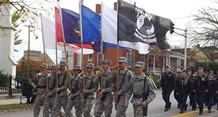 Veterans Day parade photo