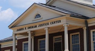 Exterior photo of James F. Ingram Justice Center (courthouse)