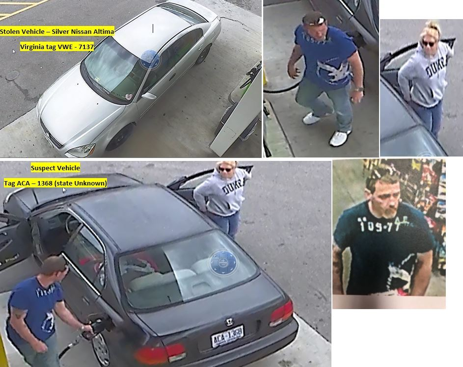 Photo Collage - Stolen Vehicle - Suspect Vehicle 2 unknown suspects