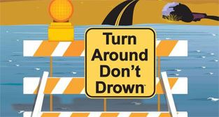 Turn around, don&#39t drown graphic