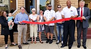 King Cropp Food ribbon cutting