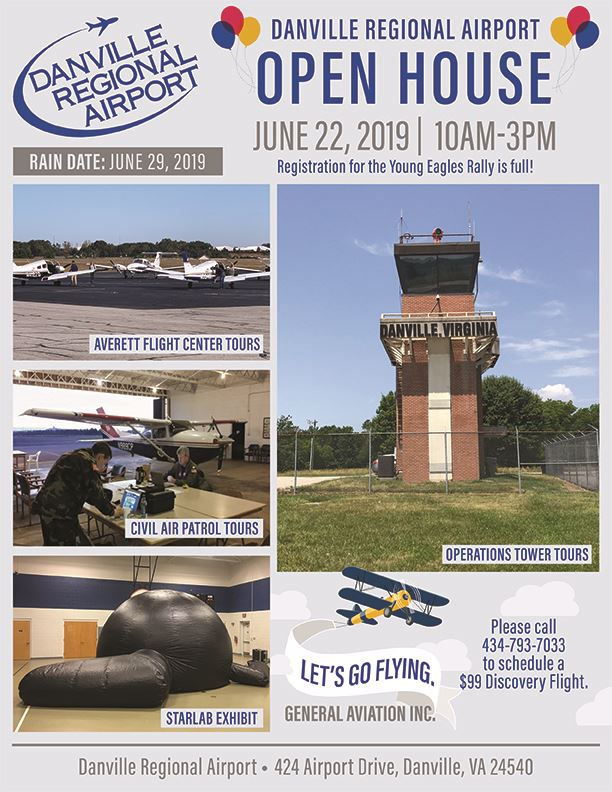 Airport Open House Flyer - Danville Regional Airport