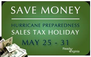 Sales tax holiday graphic