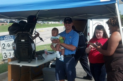 Danville Police and Fire Employees Participate in a Child Seat Check Event at Sam's Club