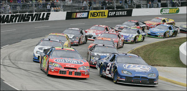 Cars Racing at Martinsville Speedway